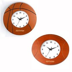 Personalized Basketball or Football Wooden Wall Clock