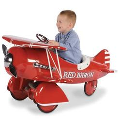 Authentic 1941 Red Baron Pedal Biplane