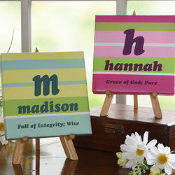 Crazy For Stripes Name Meaning Canvas
