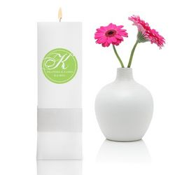 Personalized Magical Monogram Square Pillar Unity Candle