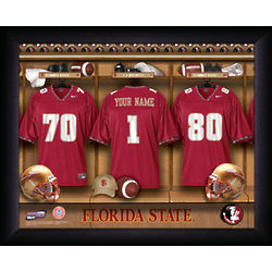 Personalized Florida State Seminoles Locker Room Print
