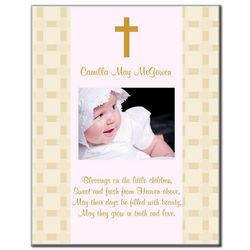 Blessings for Baby Photo Panel in Pink or Blue