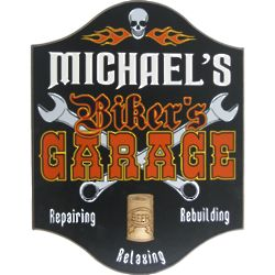 Biker's Garage Personalized Pub Sign
