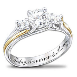 I Am Yours Ring White Topaz Couples Ring