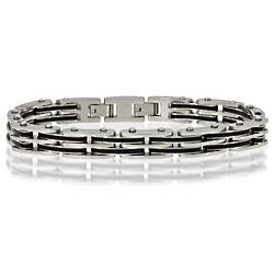 Stainless Steel Rubber Bracelet