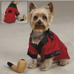 Party Hounds Smoking Jacket with Toy Pipe