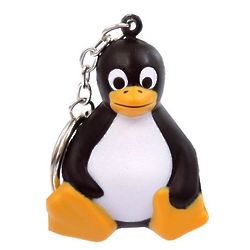 Sitting Penguin Stress Toy and Keychain