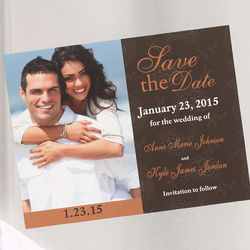 Paisley Save the Date Magnets with Custom Photo