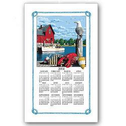 2014 Rockport Calendar Towel