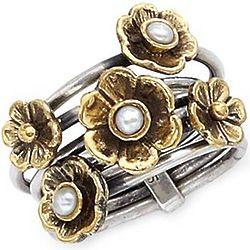 Multi-Band Flower Ring