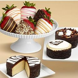 Cheesecake Trio and Strawberry Medley Gift Box
