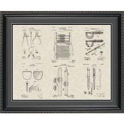 Engineering Tools Patent Art Wall Hanging