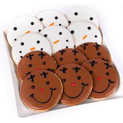 Reindeer and Snowmen Cookies Combo Pack