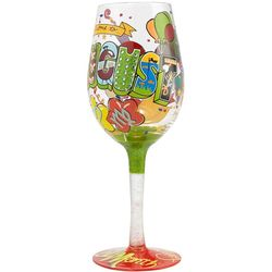 August Birthday Wine Glass