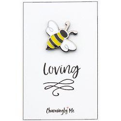"""Bee Loving"" Bumble Bee Lapel Pin on Greeting Card"