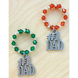 Father's Day Wine Charms