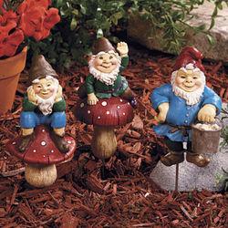 Gnome Plant Stake Set