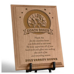 Personalized Wrestling Coach Wooden Plaque