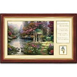 "Thomas Kinkade ""Serenity Prayer"" Framed Canvas Print"