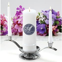 Personalized Magical Monogram Round Pillar Unity Candle Set