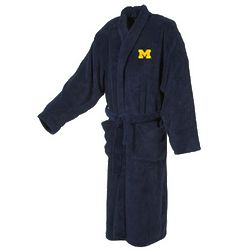 Michigan University Men's Ultra Plush Bathrobe