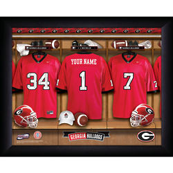 Personalized Georgia Bulldog Locker Room Print