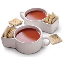Handy Soup and Cracker Mugs
