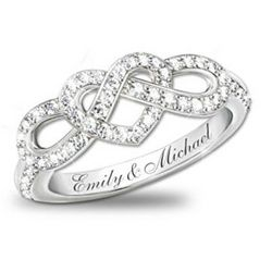 Engraved Lover's Knot Diamond Ring