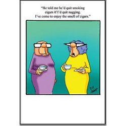 Cigars and Nagging Birthday Card