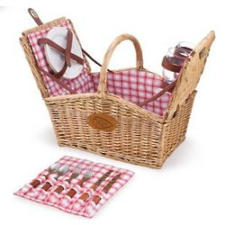 Kansas City Chiefs Piccadilly Willow Picnic Basket, 2 Person