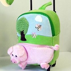 Child's Wheeled Pig Backpack