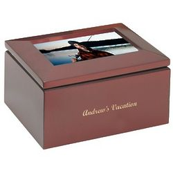 Personalized Trinket Box with Picture Frame