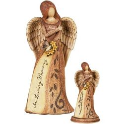 In Loving Memory Memorial Angel Set