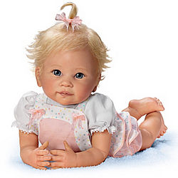 Addie's Tummy Time Lifelike Poseable Doll