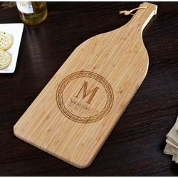 Personalized Celtic Circle Bamboo Cutting Board