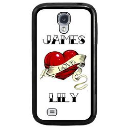 Personalized Heart Tattoo Galaxy S3 or S4 Cell Phone Case