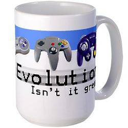 Evolution of Video Game Contollers Coffee Mug