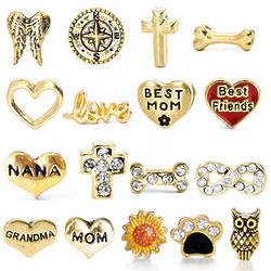 Gold-Plated Charms for Floating Locket