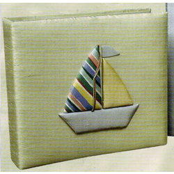 Personalized Baby Photo Album with Sailboat