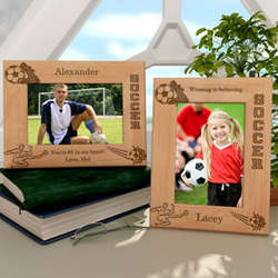 Personalized Soccer Wooden Picture Frame
