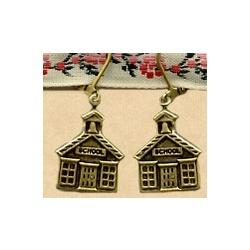 Teacher Schoolhouse Earrings