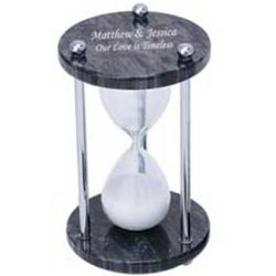 Personalized Marble & Glass Sand Timer