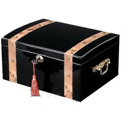 Black Pirate Chest Cigar Humidor