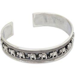 Elephant Parade Sterling Silver Cuff Bracelet