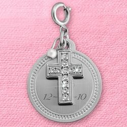 Cross Pavé Charm