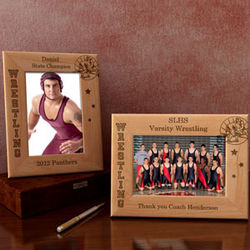 Personalized Wrestling Wooden Picture Frame