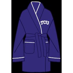 Ladies TCU Solid Cozy Robe