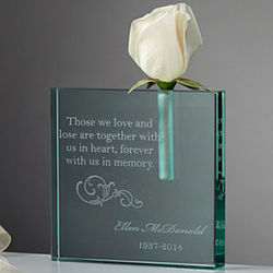 Loving Memory Personalized Memorial Bud Vase