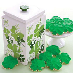 St. Patrick's Day Dessert Jar with Cookies