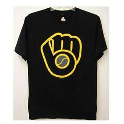 Milwaukee Brewers Mens Retro Logo Tee